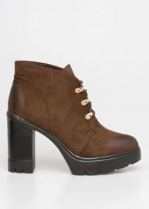 Abby Block Heel Boot, Καφέ