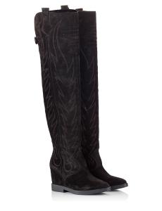 Ash Gaucho Black Suede Leather