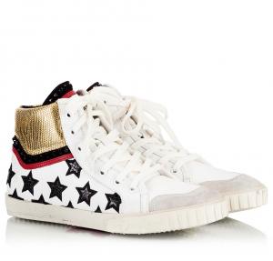 Ash Mikado White Leather Star