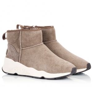 Ash Miko Taupe Suede Leather