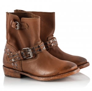 Ash Video Camel Vitello Leather