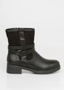 Babylon Suede Boot, Μαύρο