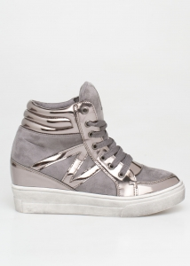 Baily Flatform Sneaker, Γκρι