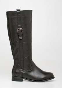 Bess Leather Like Boot, Μαύρο