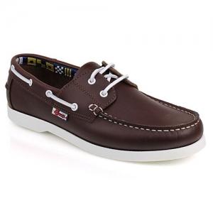 Δερμάτινα Boat Shoes Καφέ