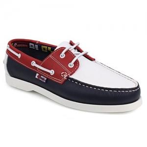 Δερμάτινα Boat Shoes Τρίχρωμα
