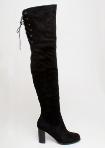 Fame Over The Knee Boot, Μαύρο