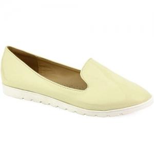 Γυναικεία Loafers Με Λευκή