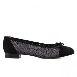 Γυναικεία Παπούτσια Kαλογήρου Private Label-Υφασμα Πλεκτό Και Δέρμα Καστόρι