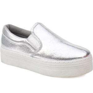 Γυναικεία Sneakers Σε Μεταλλικές