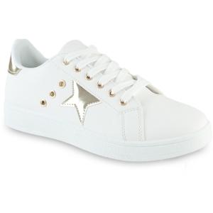 Λευκά Sneakers Με Αστέρια