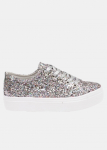 Lily Glitter Loafer Με Λευκή