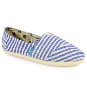 Loafers Από Πανί Ριγέ Μπλε