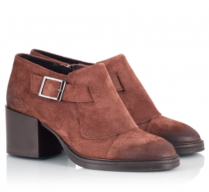 Logan Redbrown Suede Leather