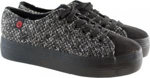 Μαύρα Πλεκτά Sneakers Xjyd1600