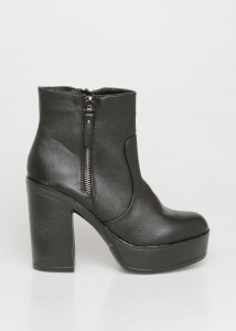 Mindy Block Heel Boot, Μαύρο