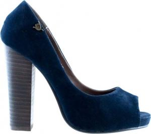 Μπλε Peep Toe Γόβαtdf 479