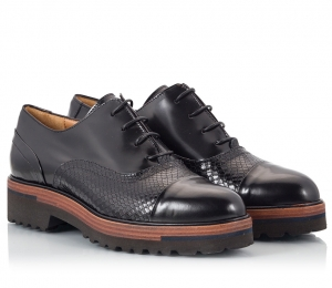 Parlanti Black Polished Leather