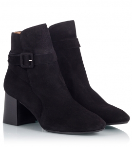 Parlanti Black Suede Leather