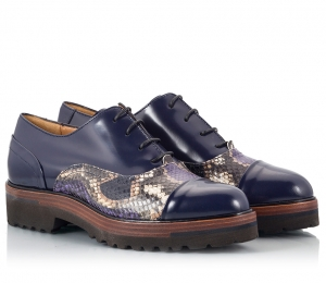 Parlanti Blue Polished Leather