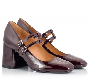 Parlanti Burgundy Patent Leather