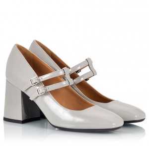 Parlanti Grey Patent Leather