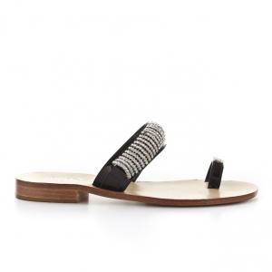 Πέδιλα Feng Shoe-Δέρμα Λουστρίνι Και Στράς