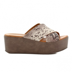 Πέδιλα Shoe Bizz-Δέρμα Φίδι