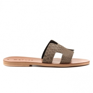 Πέδιλα Shoe Bizz-Δέρμα Καστόρι