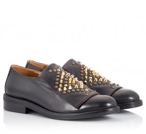 Ras Black Leather Multi-Studded