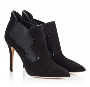 Semilla Black Suede Leather