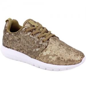 Sneakers Με Πούλιες Πλατίνα
