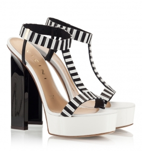 Vicini Black And White Nappa