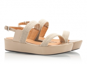 Zamagni Beige Patent Leather