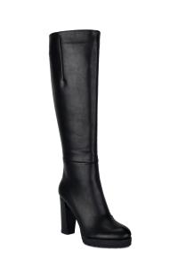 Zip-Detailed Knee Boots